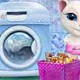 Angela and Tom Washing Toys